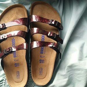 Birkenstock Shoes   Red Glitter New